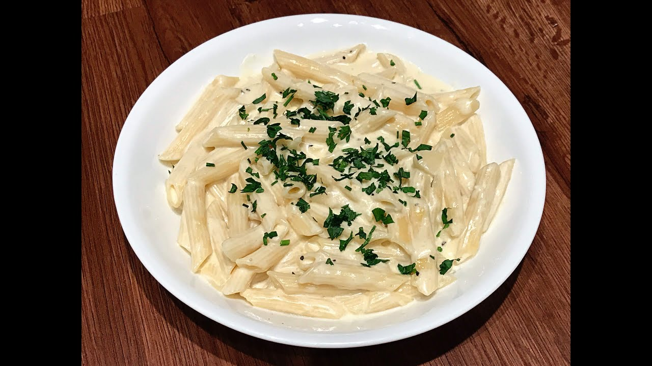 Alfredo Pasta مكرونة بالصلصة البيضاء ألفريدو Youtube