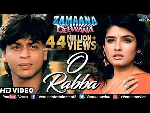 O Rabba -HD VIDEO | Shahrukh Khan & Raveena Tandon |Zamaana Deewana|90's Bollywood Romantic Sad Song