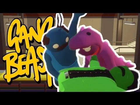BARNEY ATTEMPTS CPR!!! | Gang Beasts Online w/ DanTDM, ThnxCya