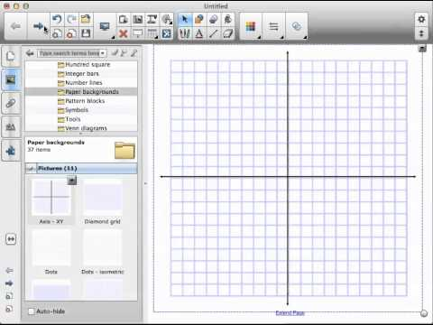SMART Notebook How to Find  Use Graph Paper - YouTube - making graph paper in word