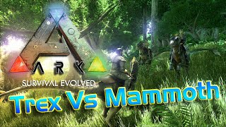 Ark: Survival Evolved Trex Vs Mammoth Battle Ark:Survival Evolved TOP Most Dangerous Creatures