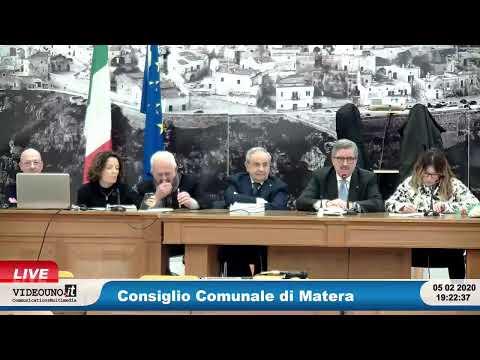 Consiglio Comunale di Matera 05 febbraio 2020Regol...