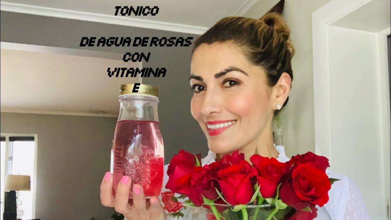 Agua de Rosas con vitamina E hecho en casa