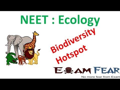 NEET Biology Ecology : Biodiversity Hotspot