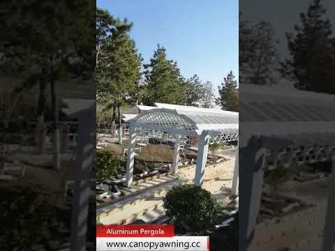 Outdoor garden wood look metal aluminum pergola grape trellies manufacturer - Outdoor Garden Wood Look Metal Aluminum Pergola Grape Trellies