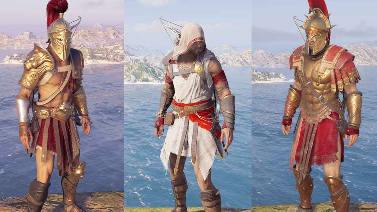 Assassin S Creed Odyssey All Legendary Armor Sets Showcase Youtube