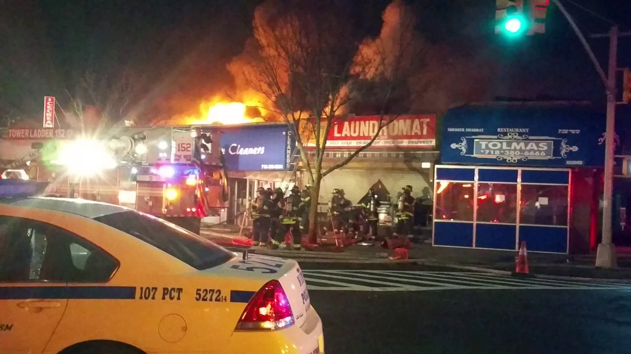 fire rips through several stores kew gardens hills queens 2 youtube