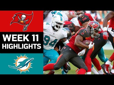 Buccaneers vs. Dolphins | NFL Week 11 Game Highlights