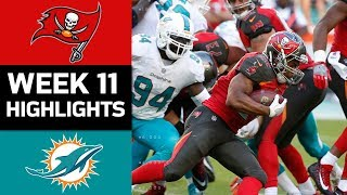 Buccaneers vs. Dolphins | NFL Week 11 Game Highlights