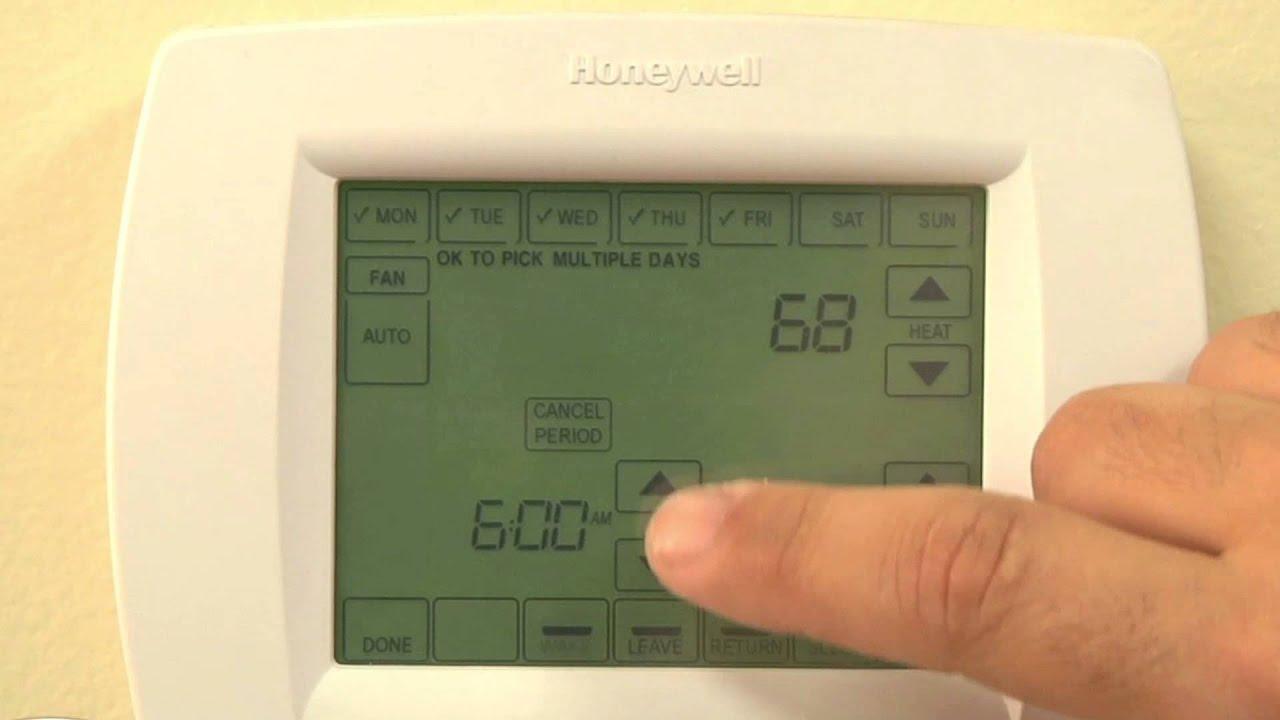 honeywell visionpro 8000 series thermostats youtube rh youtube com honeywell vision pro 8000 user manual pdf honeywell pro 8000 wifi installation manual