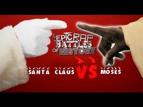 Santa Claus Vs Moses Lyric Video. Epic Rap Battles Of History Season 2.