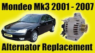 Ford Mondeo Mk3 Alternator Removal Diesel How To