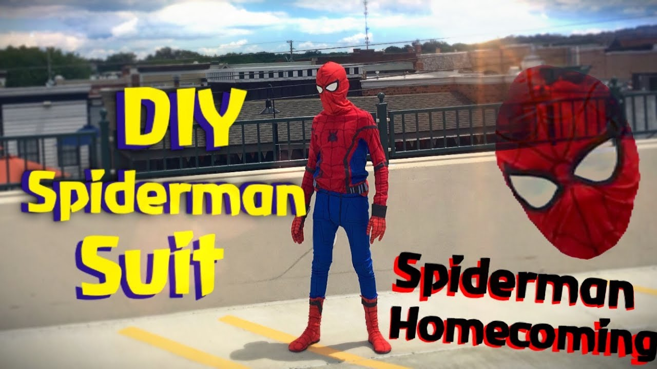 make your own spiderman costume diy youtube