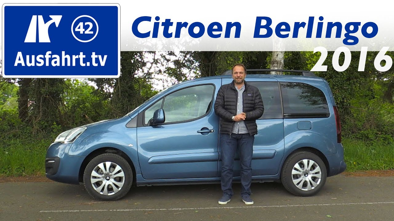 2016 citroen berlingo bluehdi 120 fahrbericht der probefahrt test review youtube. Black Bedroom Furniture Sets. Home Design Ideas
