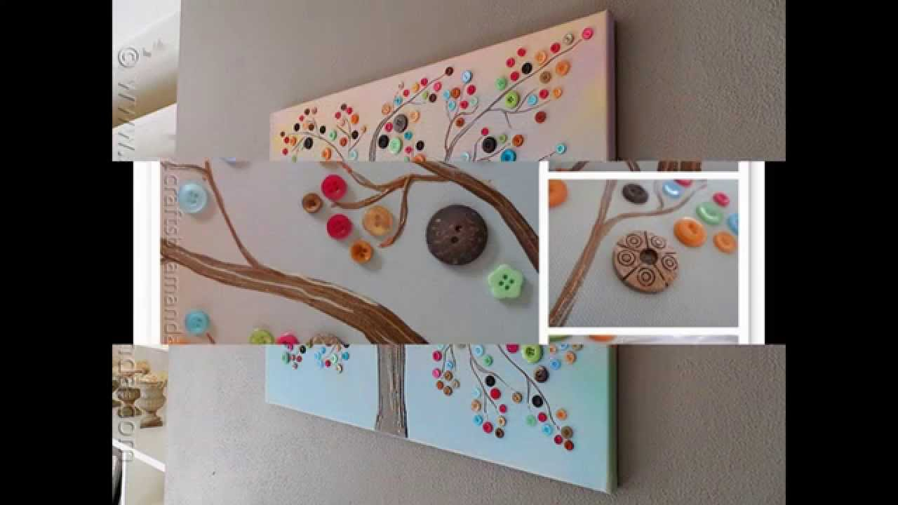 Ordinary Canvas Craft Ideas For Kids Part - 2: Easy And Simple DIY Canvas Painting Ideas For Kids - YouTube