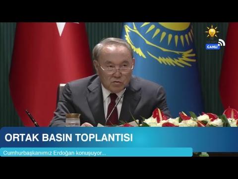 Cumhurbaşkanımız Erdoğan, Kazakistan Cumhurbaşkanı ile ortak basın toplantısı düzenledi