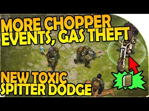 MORE CHOPPER EVENTS, STEALING GAS - NEW TOXIC SPITTER DODGE- Last Day On Earth Survival 1.5.8 Update
