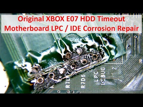 Original XBOX E07 HDD Timeout from IDE / LPC Corrosion Repair