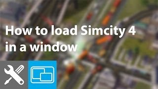 Window mode is not an option in Simcity 4 settings. Learn how to lo...