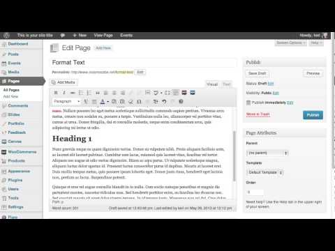 How To Format Text On Wordpress Page Or Post