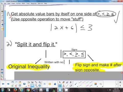 2.6 Solving Absolute Value Inequalities 10-26-16