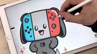Nintendo Switch | Kawaii illustration with iPad Pro