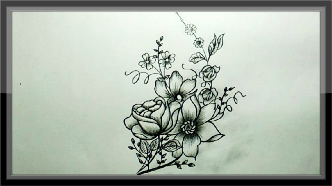 Cool Easy Drawings Pencil Drawing A Beautiful Flower Design