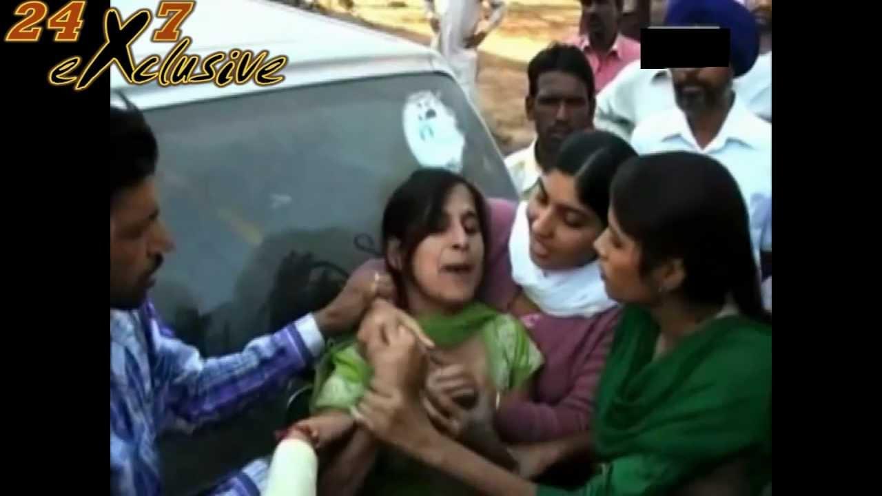 Akali Sarpanch Slapped Lady Teacher In Punjab - 24X7 -1288