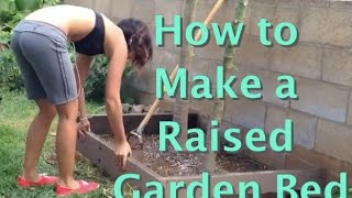 Grow Food Not Lawns! Easy Way To Make & Install A Diy Raised Bed With Recycled Wood (no Kit)