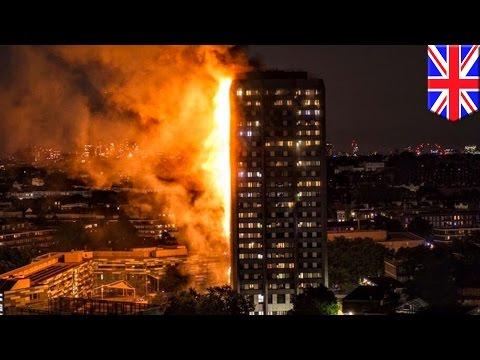 Kebakaran api besar di apartemen London - Tomonews