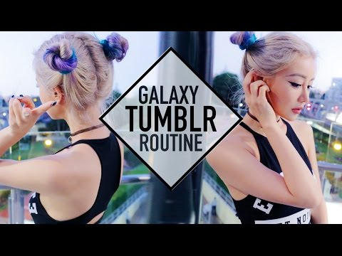Space Buns Tumblr School Routine Makeup Hair and Outfit ☪ Wengie