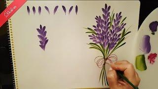 One Stroke Lavanta (lavender) Nasıl Yapılır   Didem 1080p Full HD