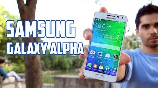 Samsung Galaxy Alpha, Review en Espanol