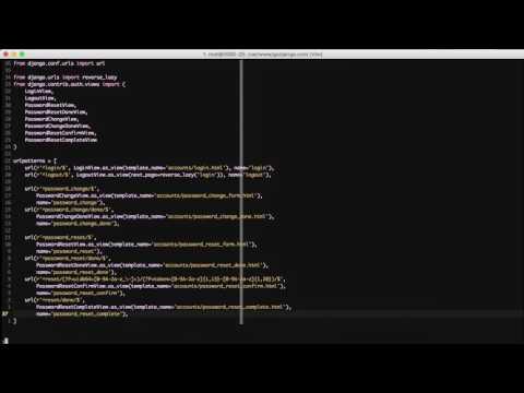 Django 1.11+ django.contrib.auth Class Based Views - Part 2 - Password Change and Reset