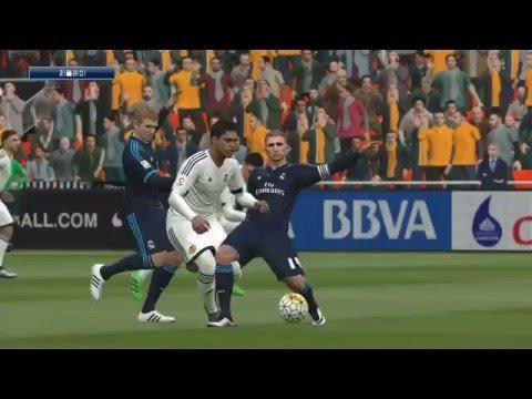 PES2016 Master League SuperStar Valencia CF VS Real Madrid