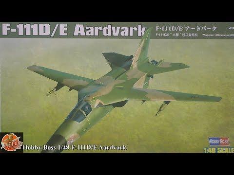 Hobby Boss 1/48 F-111D/E Aardvark Review (Re uplaoded Video)