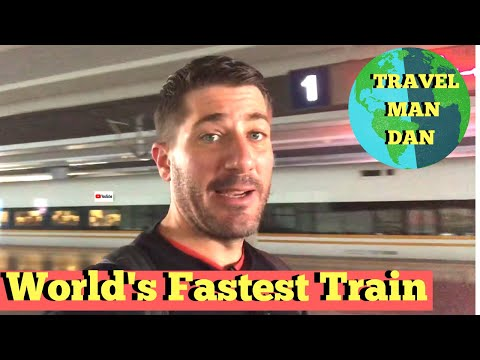 Fastest Train In The World- Shanghai to Beijing CHINA-Travel Man Dan