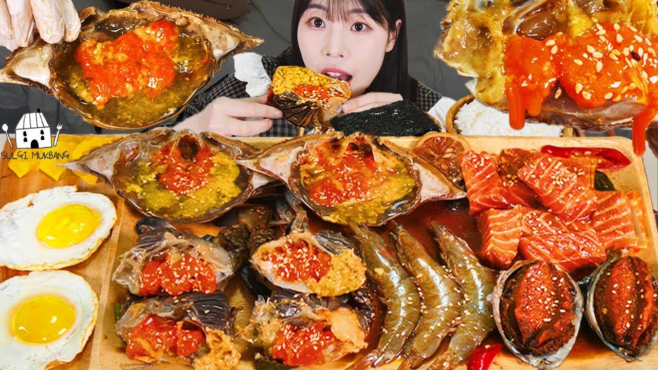 ASMR 밥도둑 장특집? 직접 만든 간장게장, 전복장, 새우장, 연어장 먹방&레시피 MUKBANG KOREAN POPULAR FOOD EATING SOUND