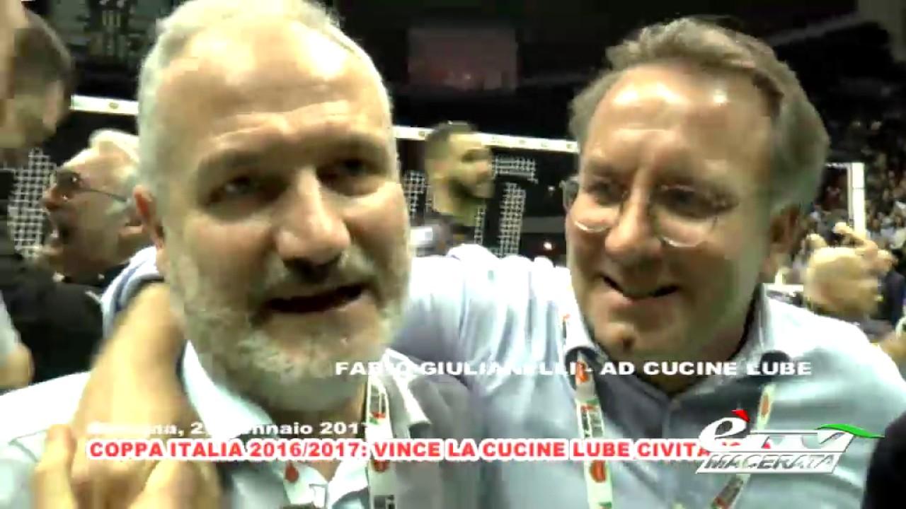 eventi LA CUCINE LUBE CIVITANOVA VINCE LA DEL MONTE COPPA ITALIA 2016/2017