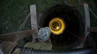 глубокий колодец 20 колец в сложном грунте за 6 дней