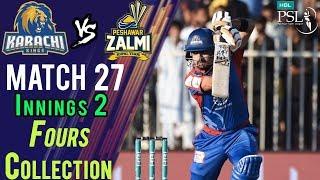 Video Karachi Kings  Fours | Peshawar Zalmi Vs Karachi Kings | Match 27 | 15 March | HBL PSL 2018 download MP3, 3GP, MP4, WEBM, AVI, FLV Mei 2018