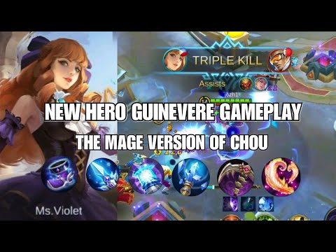 NEW HERO GUINEVERE, MS. VIOLET GAMEPLAY | THE MAGE VERSION OF CHOU? | Mobile Legends: Bang Bang