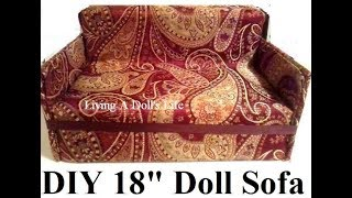"How To Make 18"" Doll Couch"