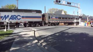 Marc Train 891 at the Summit Avenue Railroad crossing Gaithersburg MD