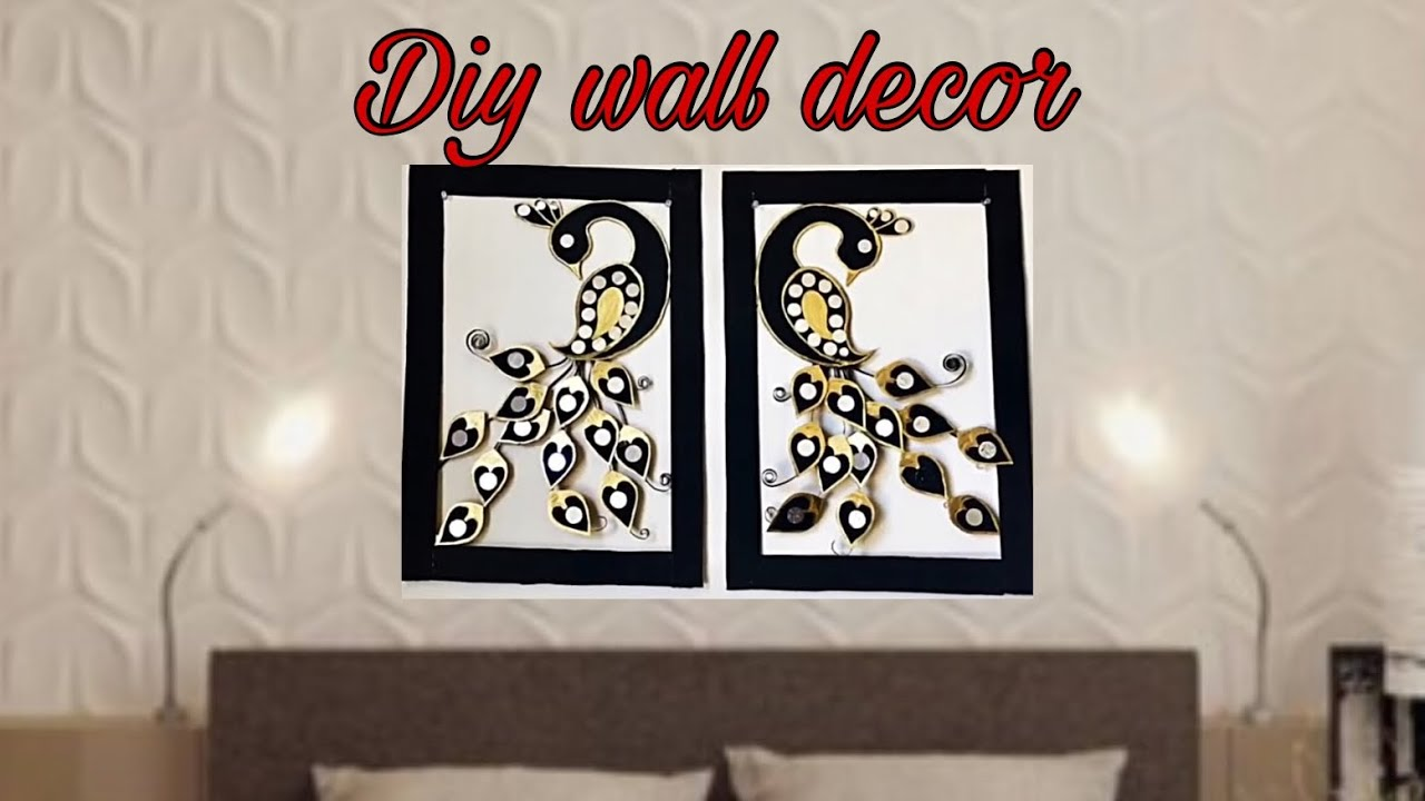 Diy Peacock Wall Decor Art Using Cardboard Fashion Pixies