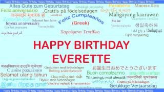 Everette   Languages Idiomas - Happy Birthday