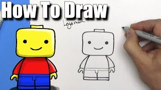 How To Draw a Cute EASY Lego Man - EASY Chibi - Step By Step - Kawaii