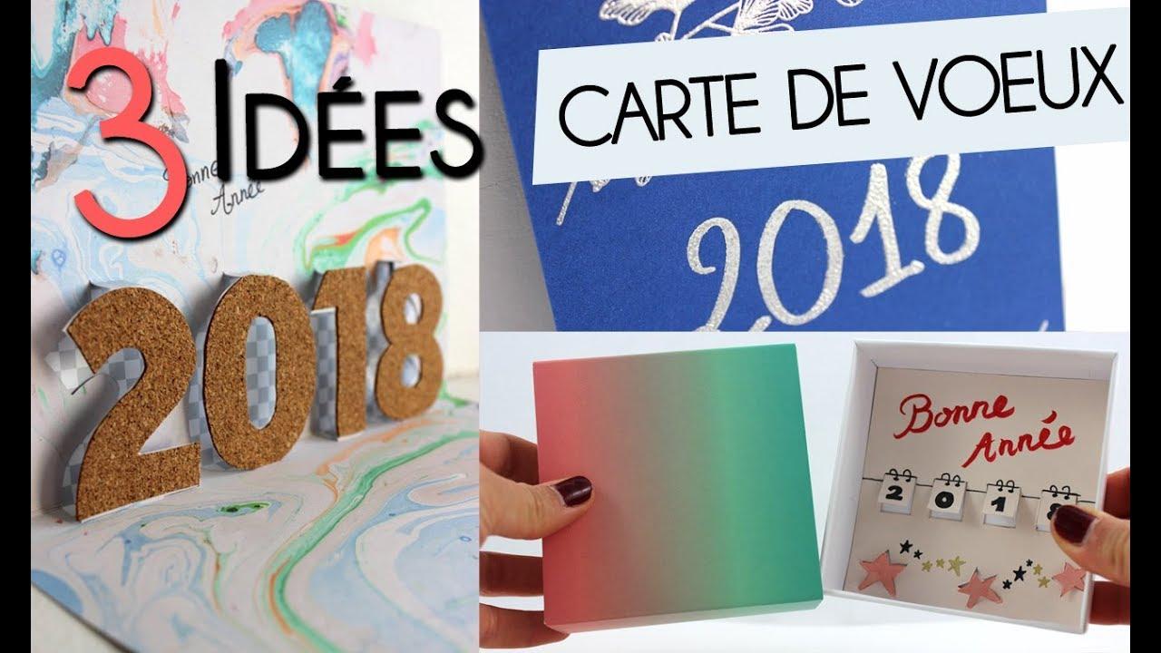 diy┋3 idÉes de cartes de vŒux 2018 À fabriquer soi-mÊme ! technique