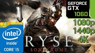 Ryse Son of Rome: GTX 1060 - i5 (Simulated) - 1080p - 1440p - 4K
