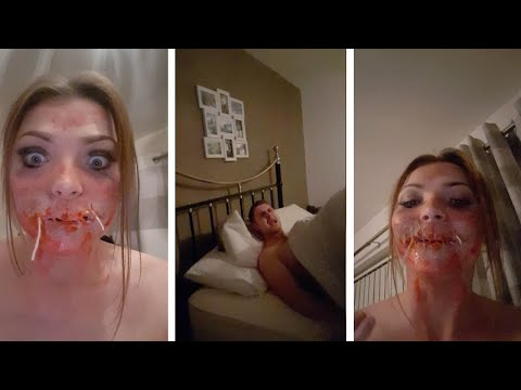 Girl Scares Boyfriend With Halloween Make-Up thumbnail